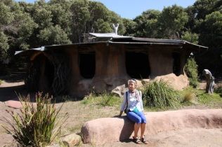LYN AND ABORIGINAL HUT