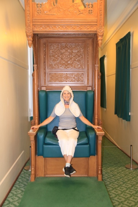 Lyn in Speakers Chair