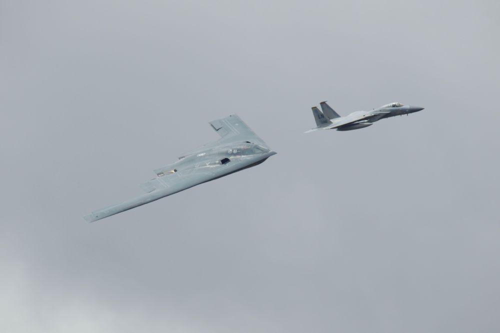 B2 Spirit and F15 Eagle