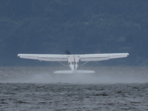 Seaplane just airborne