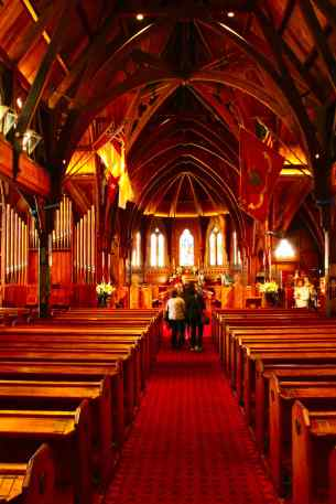 Inside the Wooden CAthedral