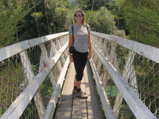 Lyn on Red Hut Bridge