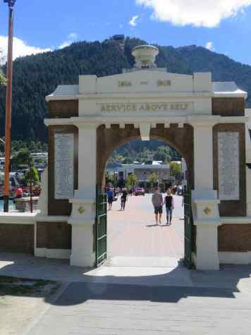 Marine Parade Through Memorial Arch