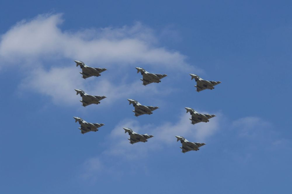 Diamond 9 Typhoons RAF 100