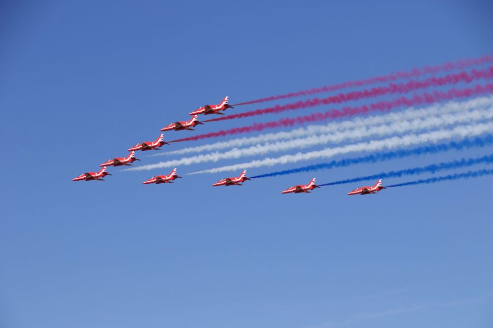 Red Arrows Display start