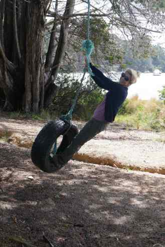 Lyn on a Tyre 3
