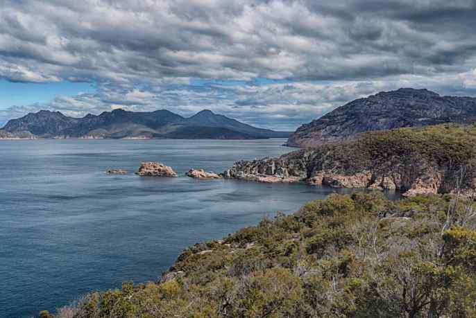 WINEGLASS BAY FROM LIGHTHOUSE
