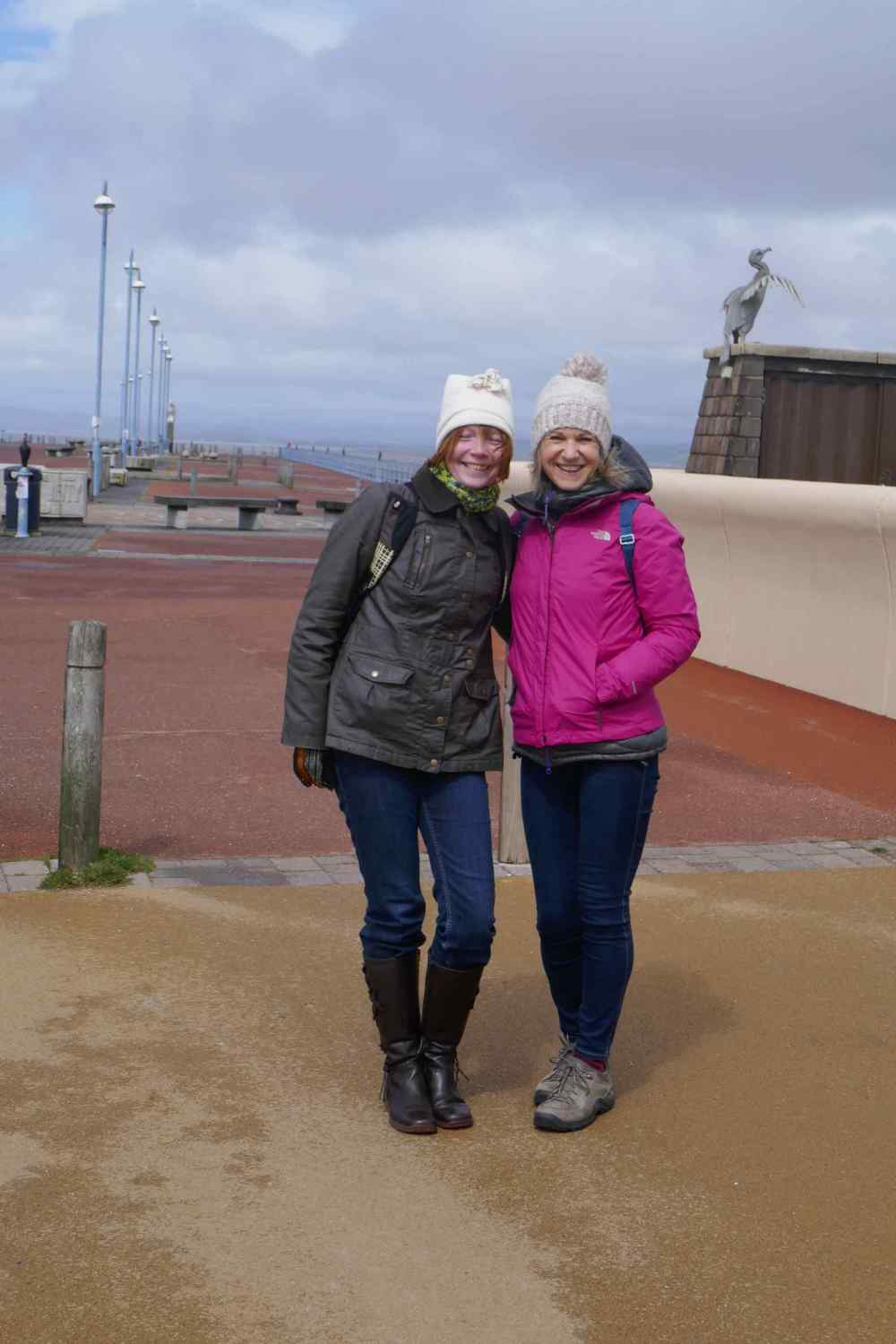 Lyn and Jenny on the pier