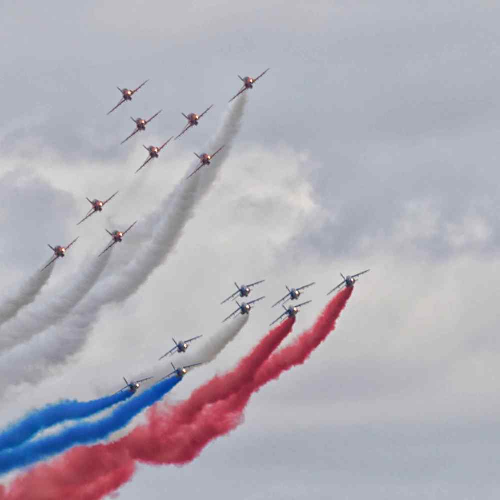 Red Arrows and Patrouille de France Concorde